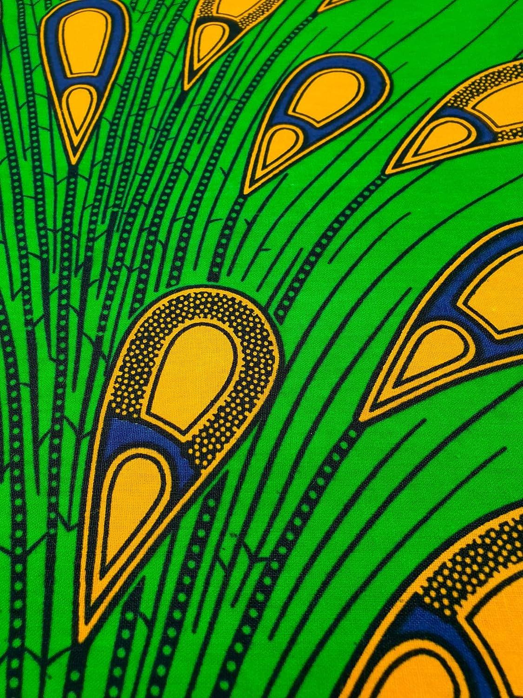 - Tessuto di Ankara Kente per la fabbricazione e la decorazione di tessuti 5,5 m di lunghezza x 1,2 m di larghezza confezione da 6 yard Tessuto ispirato ai disegni in africano