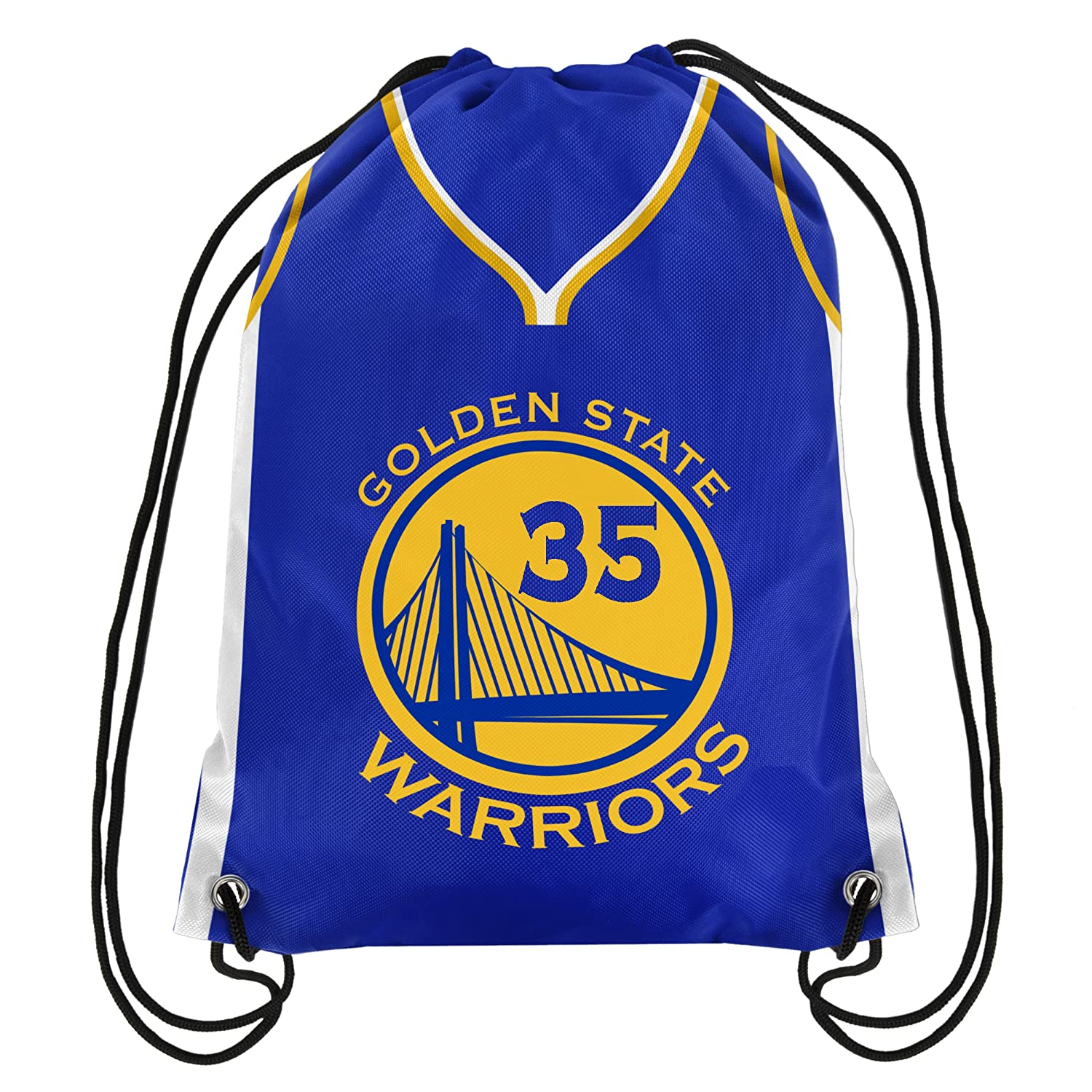 b44e666ed7e2 Amazon.com   Forever Collectibles Golden State Warriors Official Drawstring  Backpack Gym Bag - Kevin Durant  35   Sports   Outdoors