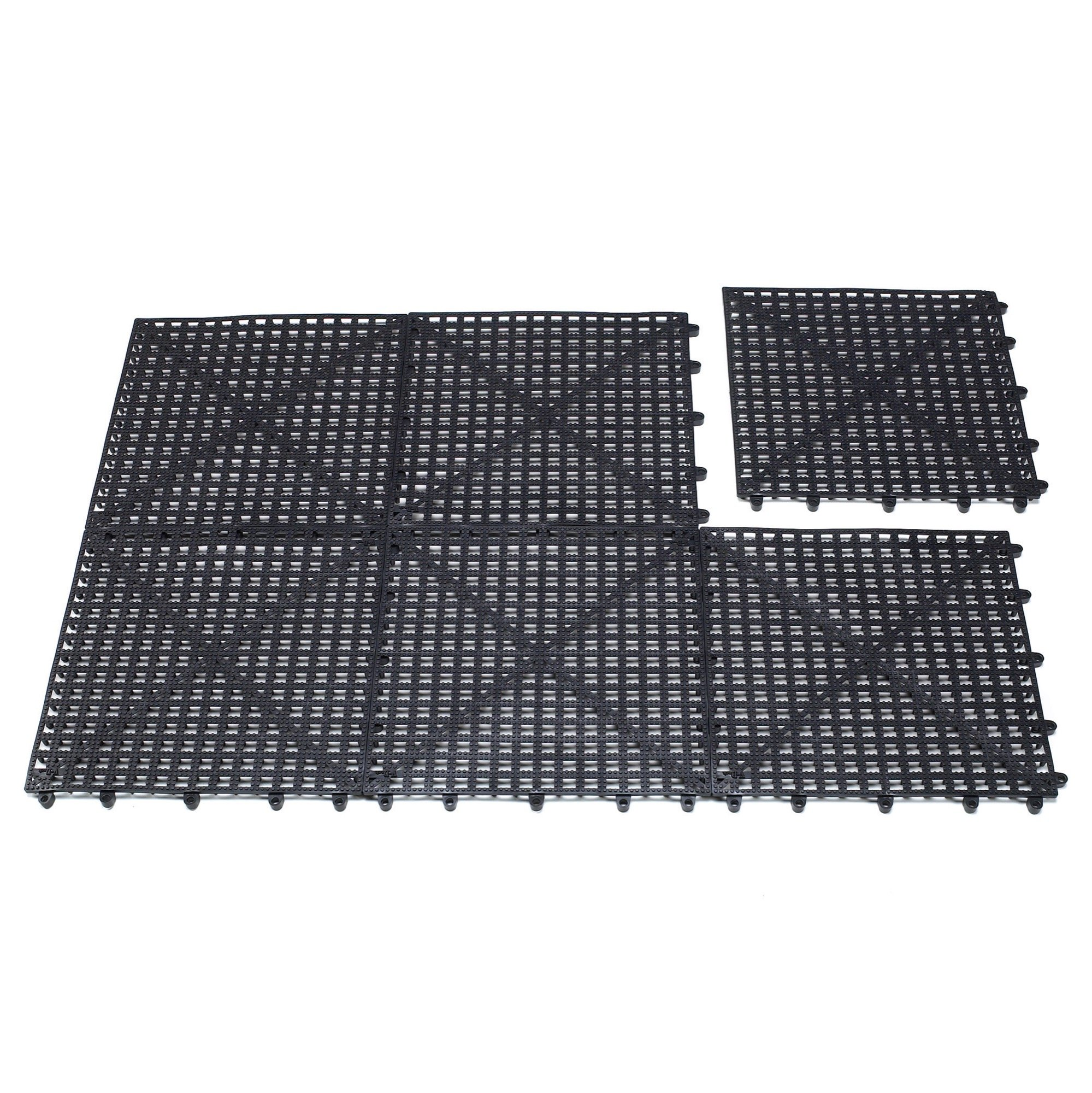 Top Performance  Floor Tiles for Groomers - Padded, Cushioned Floor Tiles  Provide Unmatched Comfort and Traction for Professional Pet Groomers Throughout Their Workday, Black