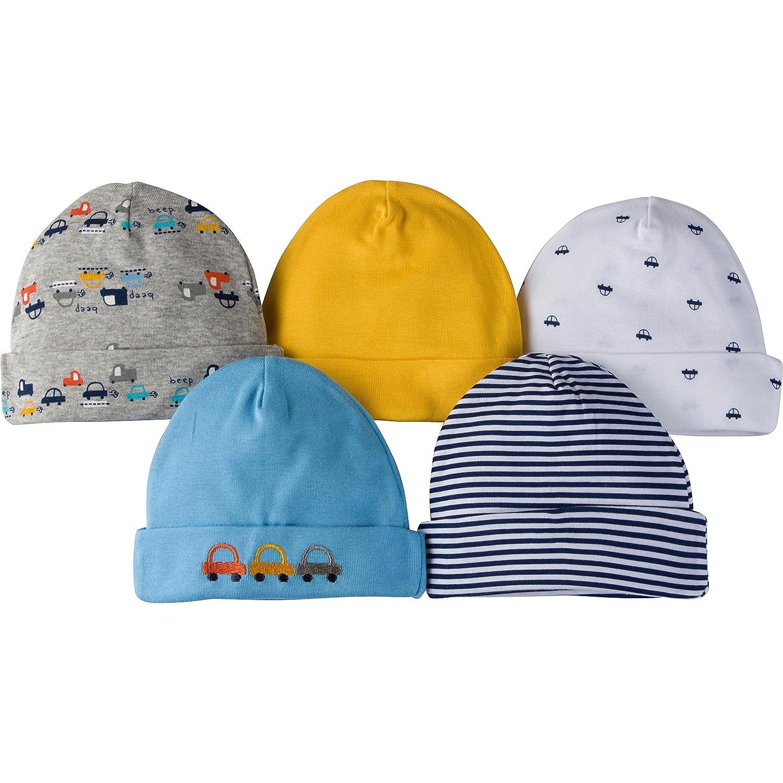 Gerber Baby Boys 5 Pack Cap Cars 0-6 Months 98434516AB1806I