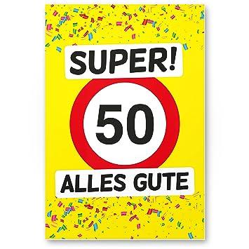 Dankedir 50 Alles Gute Kunststoff Schild Gelb Geschenk 50