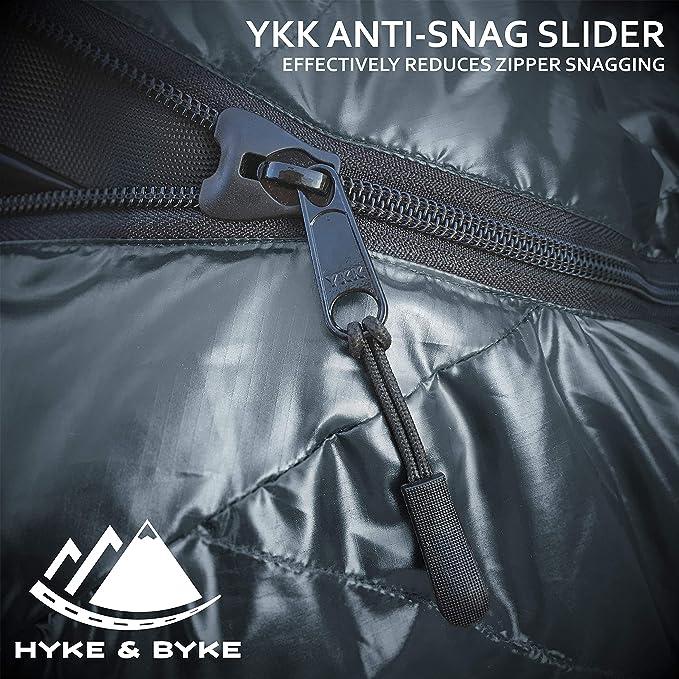 Amazon.com: Hyke & Byke 0 Degree F 625 Fill Power - Saco de ...