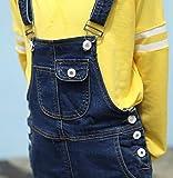 Sitmptol Girls Big Kids Suspender Strap Jeans