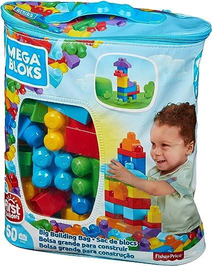 Fisher Price Juguetes Para 1 Ano.Mega Bloks Bolsa Clasica Con 60 Bloques De Construccion Juguete Para Bebe 1 Ano Mattel Dch55