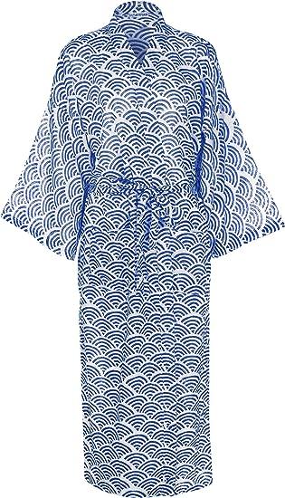Robe de Chambre femme en coton – Yukata Peignoir - Kimono Coton Femme   Vêtements de Nuit Femme Peignoir