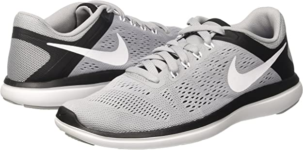 Nike Flex 2016 RN, Sneakers para Hombre, Gris (Wolf Grey/White/Black), 38.5 EU: Amazon.es: Zapatos y complementos
