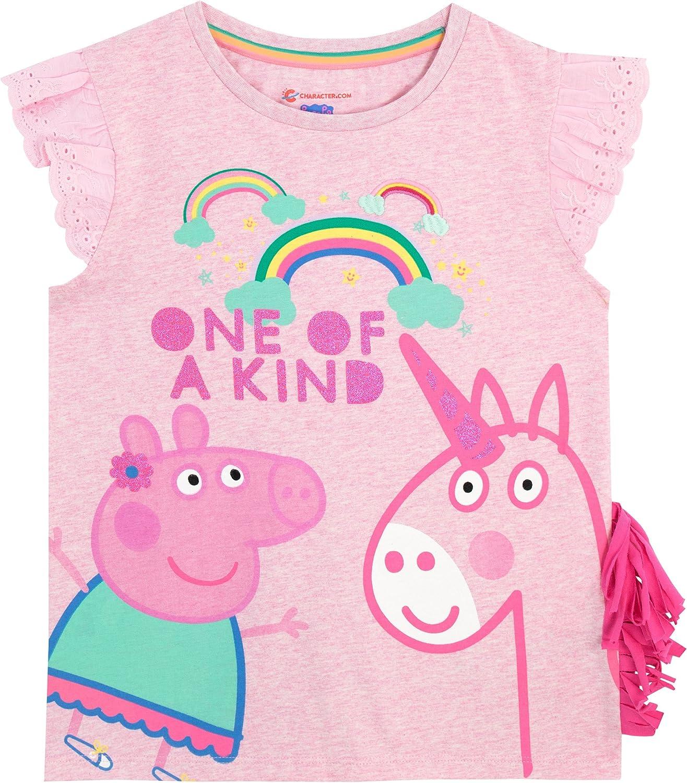 Peppa Pig - Camiseta para niñas - Peppa y Unicornio: Amazon.es ...