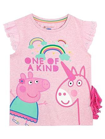 c367fe76b Peppa Pig Girls Unicorn T-Shirt Ages 12 Months to 8 Years: Amazon.co.uk:  Clothing
