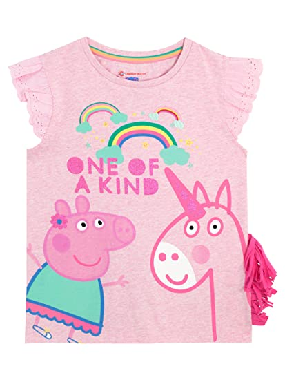 Peppa Pig Girls Peppa & Unicorn T-Shirt ...