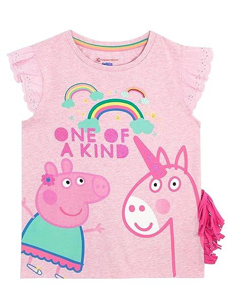 3d058bc0c Peppa Pig Camiseta Para Niñas - Peppa y Unicornio