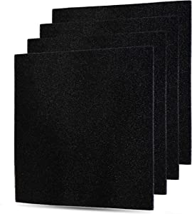 Flintar MD1-0023 4 Packs of Activated Carbon Charcoal Replacement Filters for Vornado Air Cleaner Purifier Model AC300, AC350, AC500, and AC550