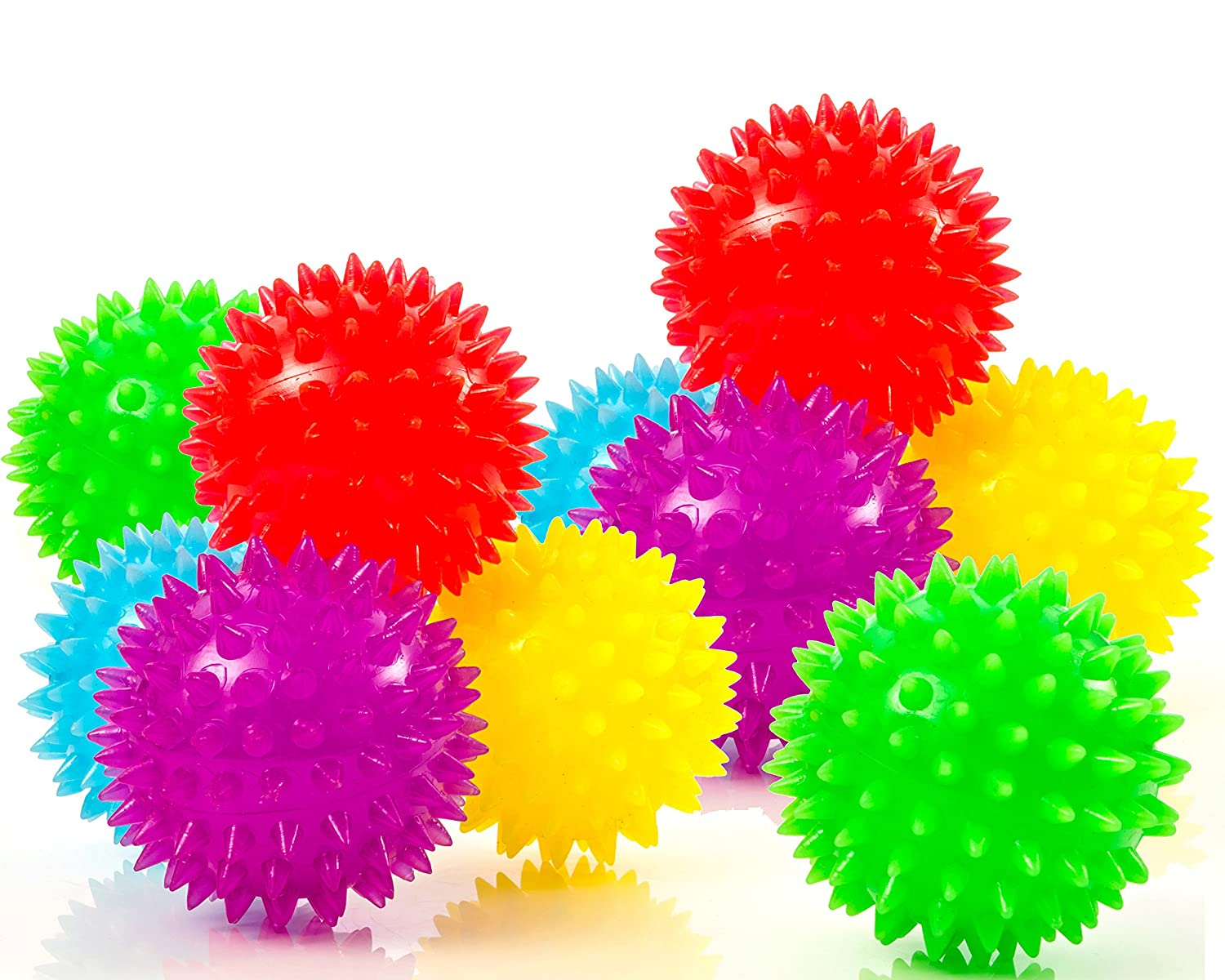 10-Pack of Spiky Sensory Balls - Squeezy and Bouncy Fidget Toys / Sensory Toys - BPA/Phthalate/Latex-Free Impresa Products BHBUSAZIN025491