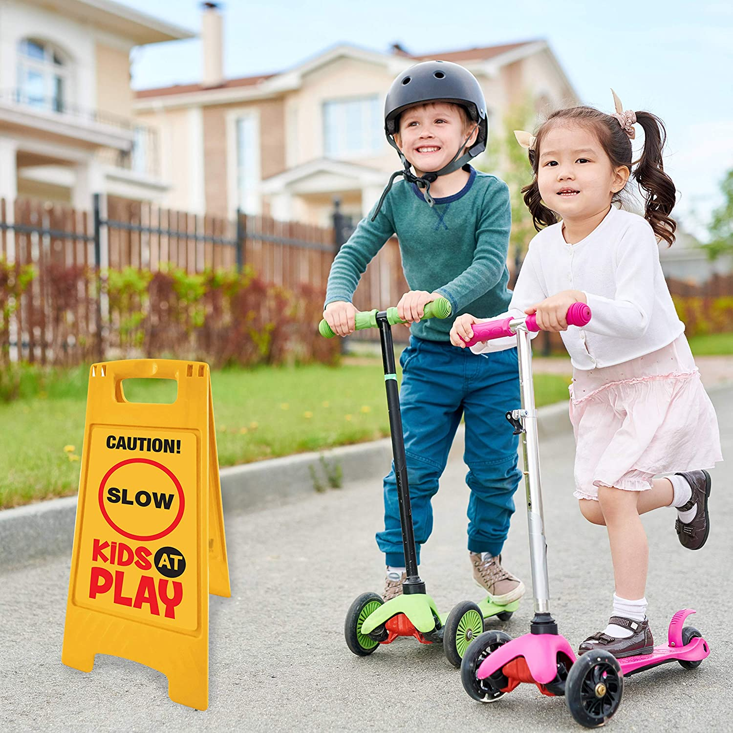 Caution Kids At Play Sign Large 420mm water//fade proof safety OH/&S