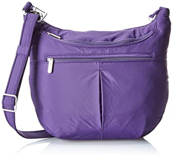 f7ff071da Amazon.com: Travelon Anti-Theft Classic Slouch Hobo, Purple, One ...