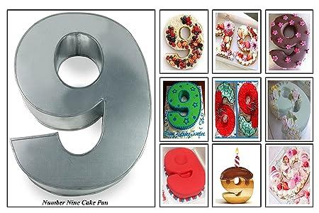 Euro Tins Molde para Tarta de cumpleaños de número Grande ...