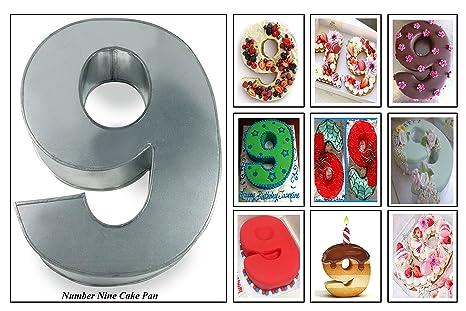 Amazon Euro Tins Numeric Cake Pan 35cm Birthday Tin Number