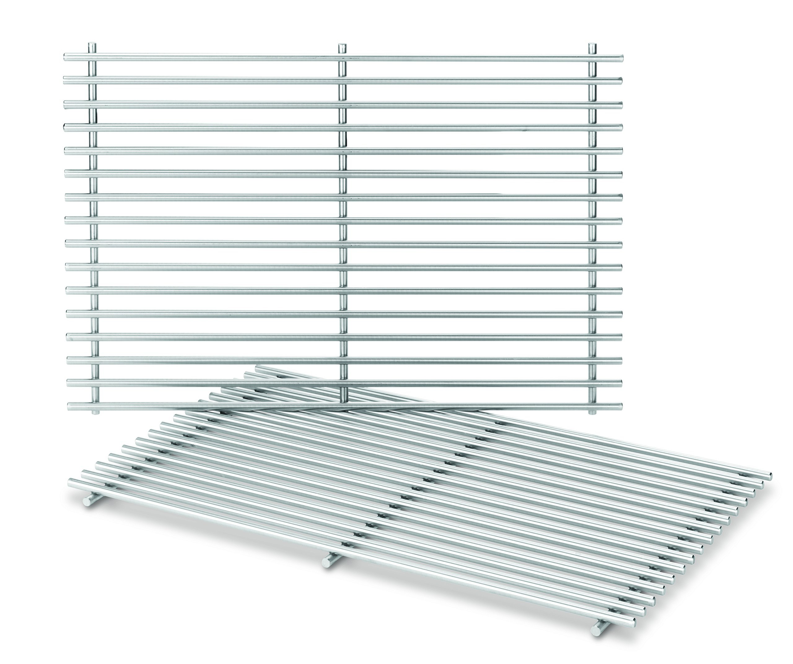 Weber-Stephen Products 7639 2pk Stainless Steel Cooking Grate (17.3 x 11.8 x 0.5) by Weber