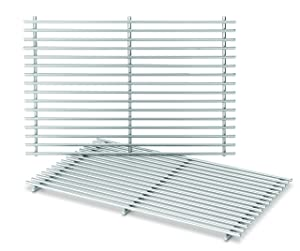 Weber-Stephen Products 7639 2pk Stainless Steel Cooking Grate (17.3 x 11.8 x 0.5)