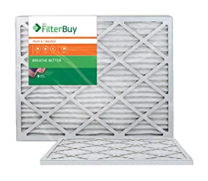 AFB Bronze MERV 6 20x25x1 Pleated AC Furnace Air Filter. Pack of 2 Filters. 100% produced in the USA.