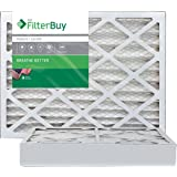FilterBuy 16x20x4 MERV 8 Pleated AC Furnace Air Filter, (Pack of 2 Filters), 16x20x4 – Silver