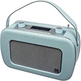 KitSound Jive 1950s Style Retro Portable DAB Radio with Dual Alarm Clock and Carry Handle - Duck Egg Blue
