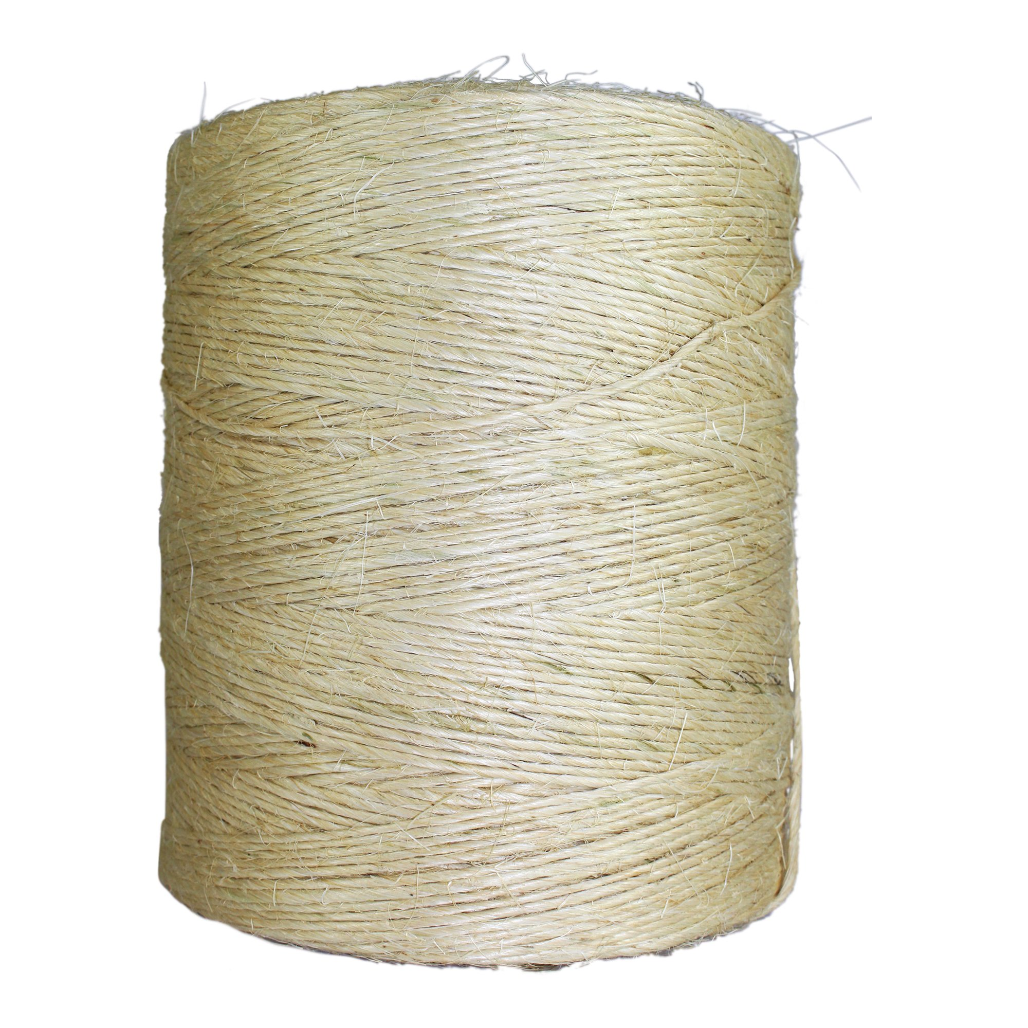 Unoiled Sisal Twine (8000 ft) - SGT KNOTS - 100% Natural Fiber Twine - Food Safe Eco Friendly - Crafting, Growing Hops for Beer Brewing, Cucumber Twine, Agriculture, Farming by SGT KNOTS