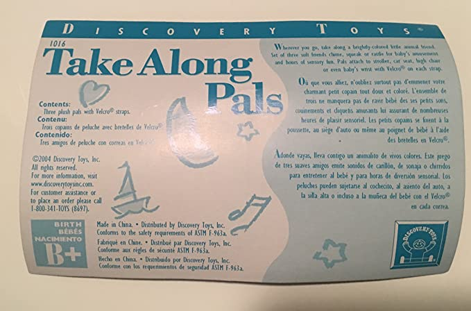 Amazon.com: Discovery Toys Take Along Pals #1016 (discontinued by manufacturer): Toys & Games