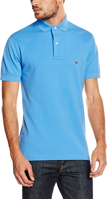 TOMMY HILFIGER, TOMMY KNIT S/S RF - Polo para hombre, Azul ...