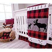 Trend Lab Lumberjack Moose 3Piece Crib Bedding Set