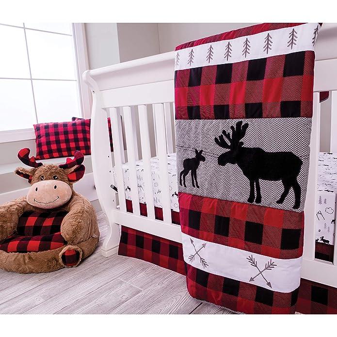 Crib Bedding Set Trend Lab Red Black