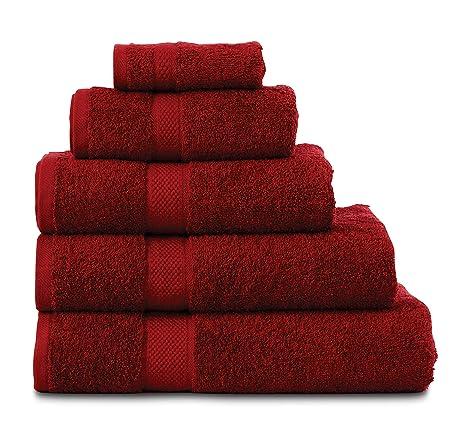 Moonlight20015 Toallas de lujo, 100% algodón egipcio, granate, Face Towel (28