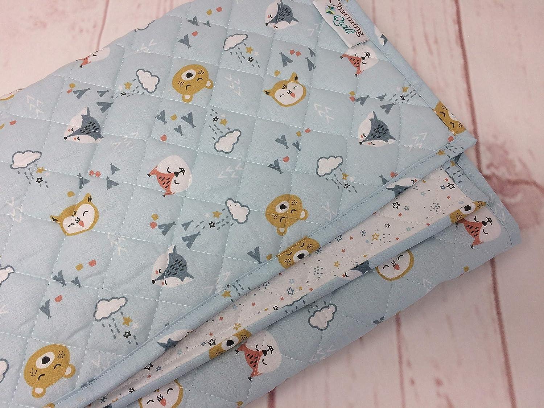 Babydecke BABY BEAR blau Leichte Decke in 2 Gr/ö/ßen KRABBELDECKE