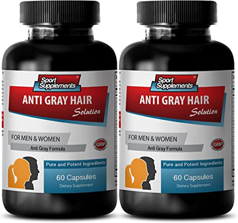 Amazon.com: Gray Hair Products - Anti Gray Hair Natural Formula ...