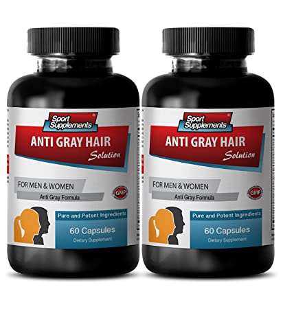 Grey hair reverse - ANTI GRAY HAIR NATURAL FORMULA for Men and Women -  Vitamin b6 and