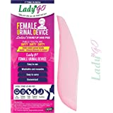 LadyGo - Reusable Female Urinal Device(FUD) - Stand-up and pee - Pink (Pack Of 1)