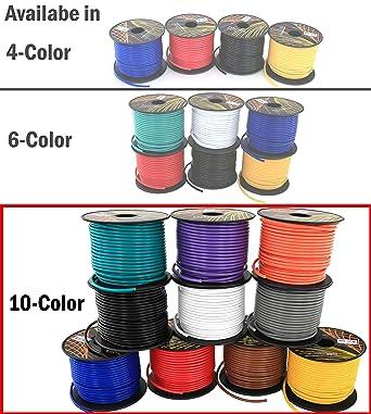14 Gauge Ga 10 Color Copper Clad 12V Automotive Trailer Hookup Auto Primary Wire