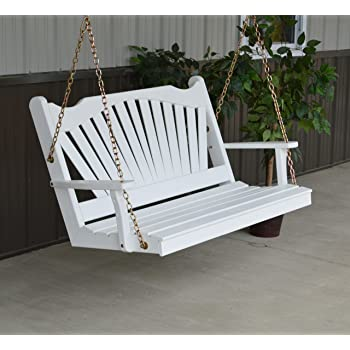 Aspen Tree Interiors WOOD PORCH SWING, 2 Person Swings Patio Front Porches,  USA Amish