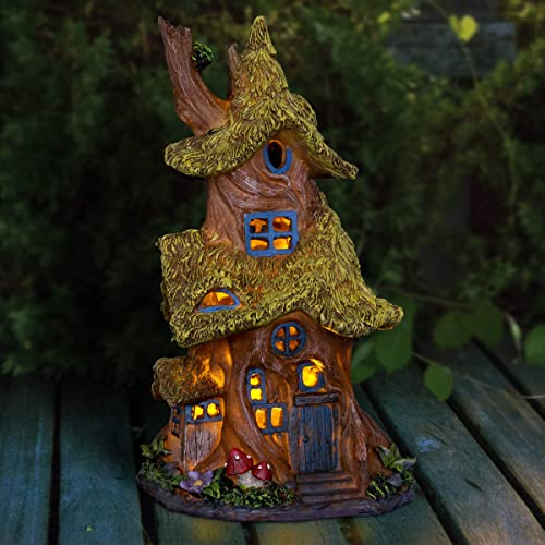 Exhart Thatched Roof Tree House Garden Statue