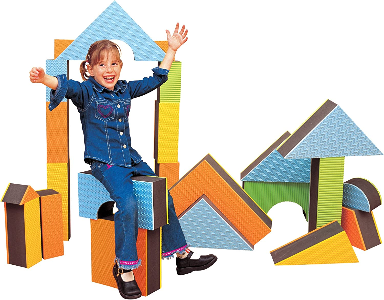 Set of 16 toys 710145 Construction Edushape 5 Jumbo Textured Blocks