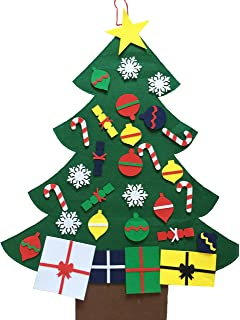 night gring 2016 new 3 felt christmas tree set with ornaments wall hanging - Christmas Tree For Me