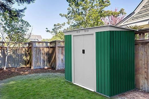 Caseta Cobertizo de Metal verde para Jardin Room Verde: Amazon.es: Jardín