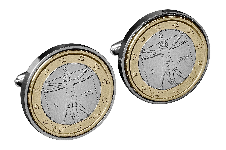 Da Vinci Cufflinks- Give the Gift of a Genius- Vitruvian Man Mint Coins