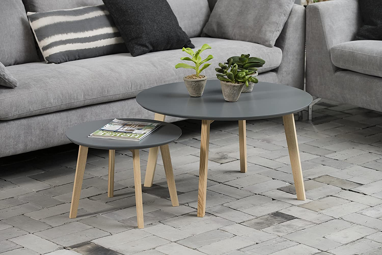 Piano in Legno Laccato Grigio Scuro AC Design Furniture 60334 tavolino da Salotto Mia