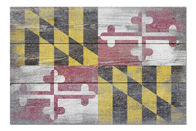 【上品】 素朴なMaryland ( State ) Flag ( 20 x 30プレミアム1000ピースジグソーパズル x、アメリカ製。 ) B076PWMXJR, 白河市:f8088570 --- a0267596.xsph.ru