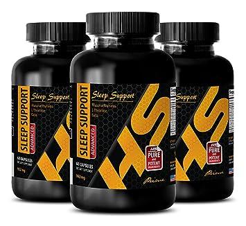 mucuna pruriens capsules - SLEEP SUPPORT - ADVANCED BLEND 952Mg - melatonin bulk - 3 Bottles
