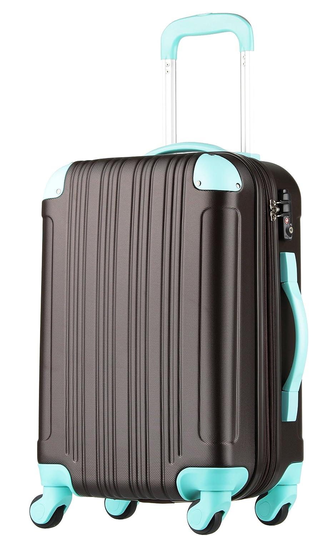 【レジェンドウォーカー】LEGEND WALKER スーツケース 容量拡張 TSAロック 超軽量 マット加工 ファスナー開閉 5082 B071GTKB9B 機内持込サイズ(1~3泊/33(拡張時40)L)|チョコ/ミント チョコ/ミント 機内持込サイズ(1~3泊/33(拡張時40)L)