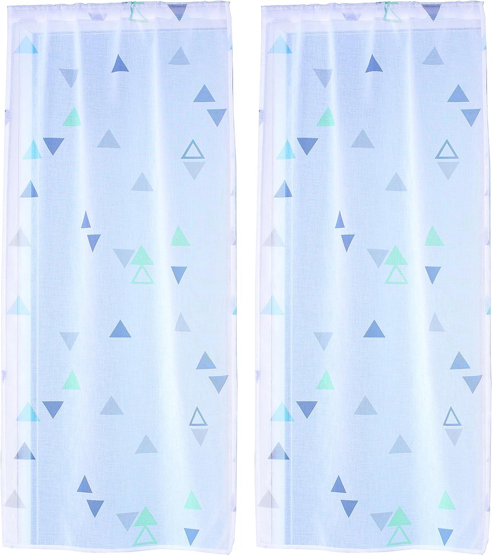 Ciel de France Voilage Paire de Vitrages Polyester Gris 120x60 cm