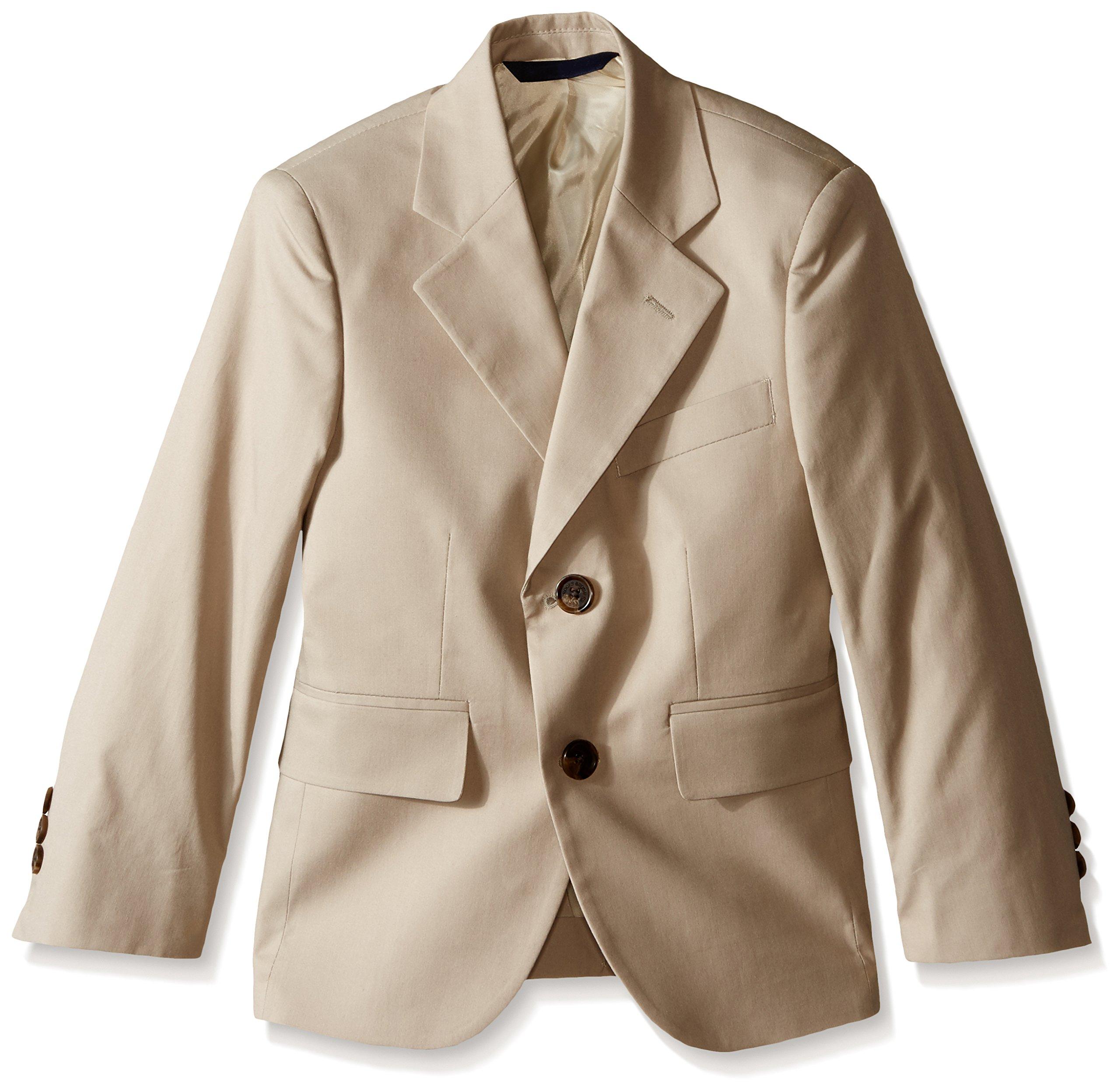 Brooks Brothers Little Boys' Suit Jacket, Khaki, 6 -