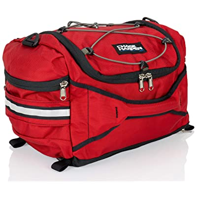 Chase Harper USA 4200 Hideaway Tail Trunk - Water-Resistant, Tear-Resistant, Industrial Grade Ballistic Nylon with Adjustable Bungee Mounting System for Universal Fit - RED: Automotive