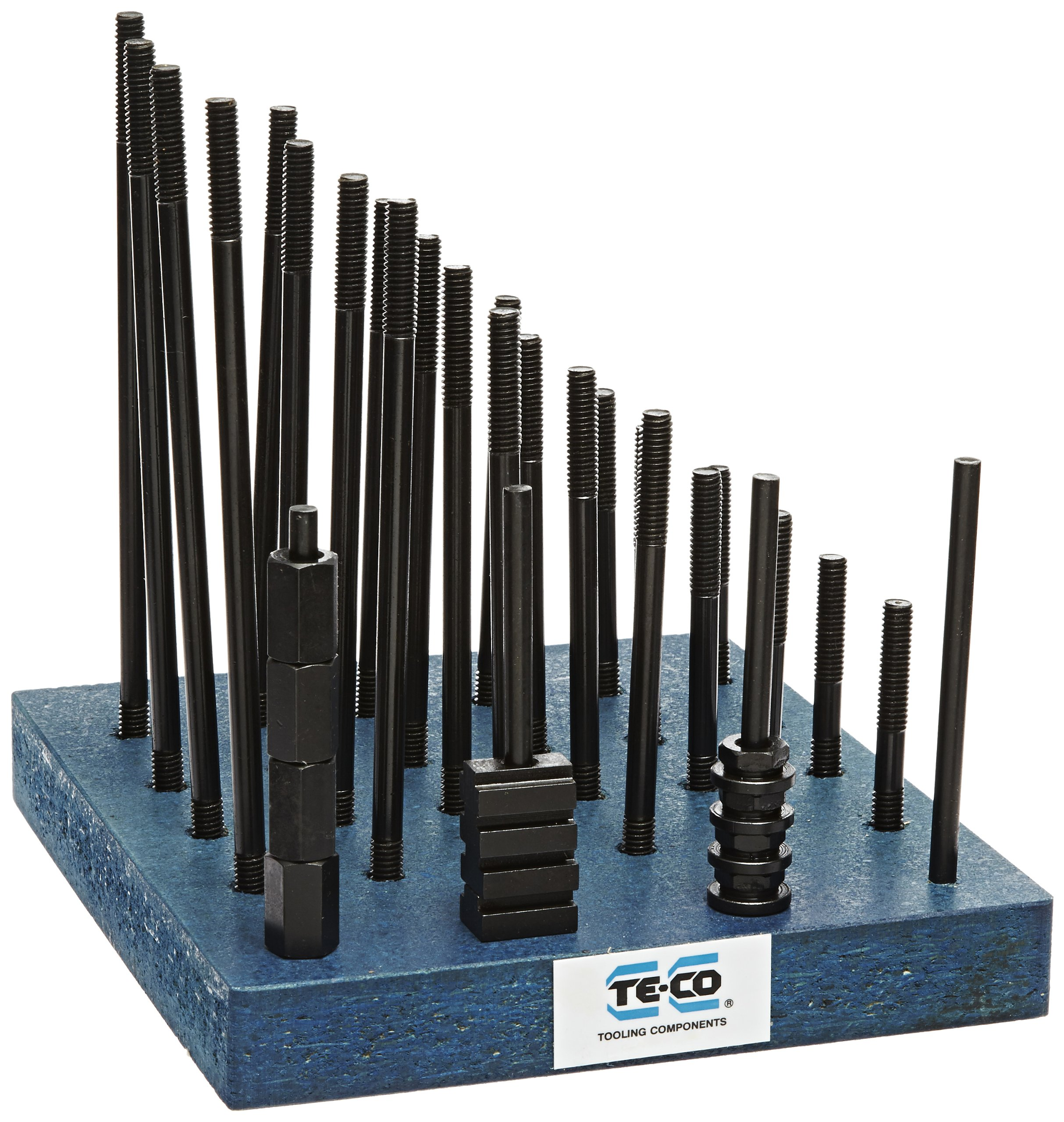 Te-Co 20601 38 Piece T-Nut and Stud Kit, 5/16''-18 Stud x 3/8'' Table T-Slot